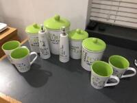 Kitchen Cannisters, mugs etc