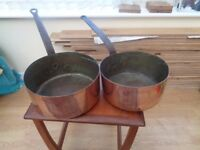 FRENCH CHEF'S COPPER PANS £75