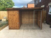 Handmade solid dog pen