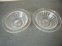 2 identical vintage decorative clear glass bowls/dishes – for desserts/sweets/nuts/etc. or display.
