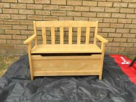 child's bench storage