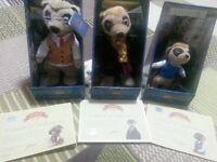 3 Meerkat toys