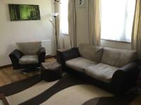 DFS brown and light brown sofas BEST OFFER