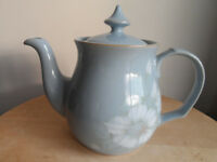 DENBY BLUE DAWN PATTERN TEAPOT AND COVER