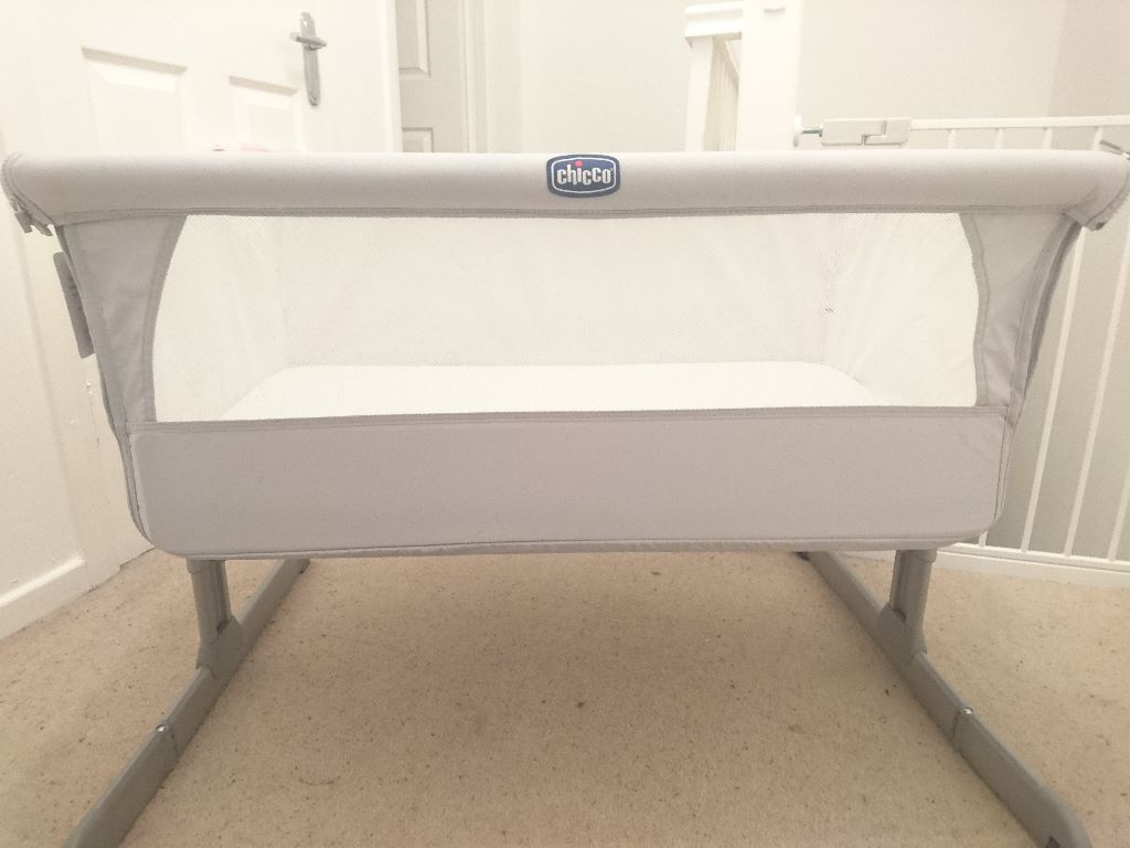 Immaculate Chicco Next 2 Me Bedside Crib Silver In Clydebank West Dunbartonshire Gumtree