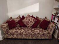 Gorgeous Vintage Scatter Back 3 Seater Sofas