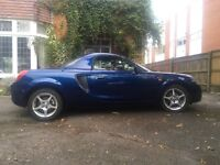 Stunning Toyota MR2 1.8 exceptionally low mileage, with factory hard top, 2002.