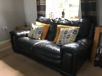 DFS Leather 3 seater + 2 seater Sofa