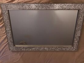 Silver Mosaic Effect Glass Mirror