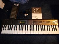Korg X5D Keyboard/ Synthesizer, with manual and Boss volume pedal. Excellent condition