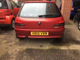 Peugeot 306, probably had gasket , immaculate inside and beautiful red Cole