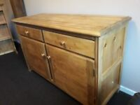 Waxed Pine Sideboard Storage unit