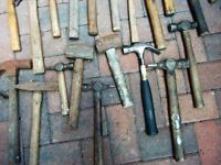LARGE ASSORTMENT OF HAMMERS