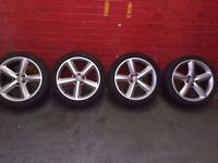 AUDI A5 S LINE ALLOY WHEELS AND 245/40R18 PIRELLI TYRES