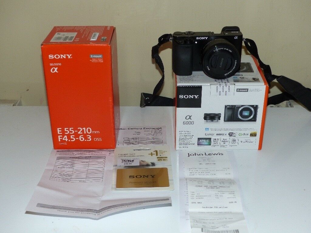 SONY A 6000 DIGITAL CAMERA+SEL 50-16 MM LENS +SEL 55-210MM LENS