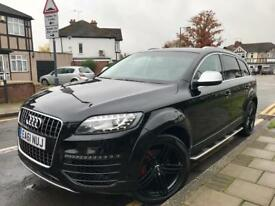 "2011 61 AUDI Q7 3.0 V6 SE SPORT EDITION 67k FSH BLACK GENUINE V12 BODYKIT 21"" WHEELS..PRISTINE"