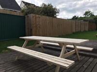 Garden table bench, pub style, heavy duty New