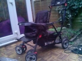 Joovey tandem pushchair ,ideal for 2 children