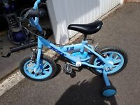 Boys bike for sale with stabilisers