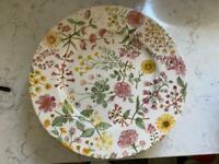 Floral 11' ceramic plates bundle