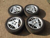 "Ford escort / fiesta 15"" alloy wheels -Good tyres"