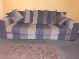4 + 3 seater DFS fabric sofas