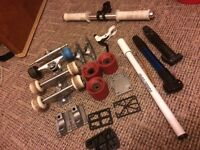 Skateboard parts and bike parts