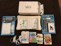 Wii Console, Wii Fit plus games and accessories