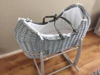 Clair de Lune Moses Basket under 6 months old