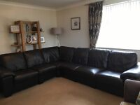 DFS Linea range corner sofa 6 seater chocolate brown leather fantastic condition, reluctant sale!
