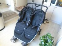 BRITAX B-AGILE DOUBLE PUSHCHAIR WITH BRAND NEW RAIN COVERS