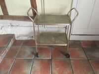 Vintage Tea Trolley, Gold and Marble Effect