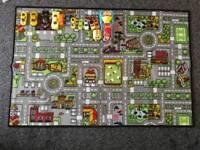 Car rug play mat 120cm x 80cm + cars