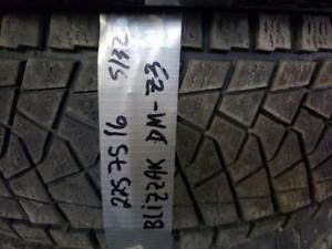 1 winter tire bridgestone blizzak dm-v3 225/75r16  SPECIAL !