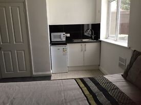 Large Bright Double Bedroom en-suite with small kitchen area in Kingswood Bristol