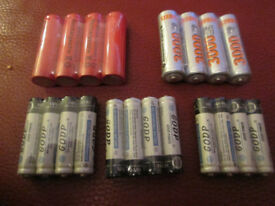 Job lot of Mainly Rechargeable Batteries from £2