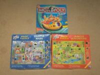 JUNIOR MONOPOLY & MAGIC JIGSAWS