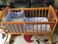 Mamas & Papas Swinging Crib and Mattress set