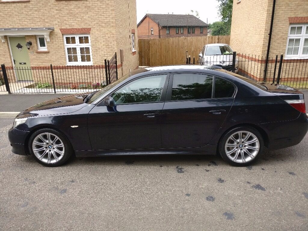 2005 black bmw 520d m sport full black leather e60 2 0 diesel full mot not 530d 535d in. Black Bedroom Furniture Sets. Home Design Ideas