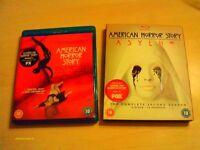 American Horror Story , seasons 1& 2 on blu ray