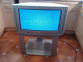 Classic Silver Phillips T.V with stand