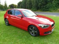 2013(62) BMW 114i 1.6 SPORT STOP/START MOT JULY 17 S/HISTORY 2 KEYS LADY OWNER IMMAC COND PX WEL