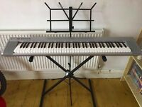 Yamaha Portable Grand NP-30 keyboard, stand & music stand