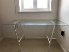 John Lewis Large Glass desk perfect for hone office