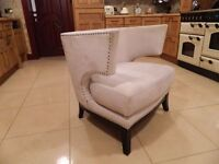 Modern Ivory-White Designer Chair