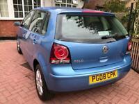 Volkswagen Polo Match, 1.4 Diesel, 2008, 5 Doors, Full Service History, £30 Tax, AUX, Long MOT!