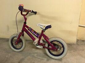 Pink kids bike for age 3-5