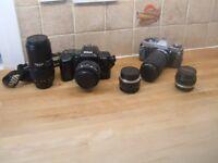 Camera's Nikon 401's SLR & Olympus OM2 Details below