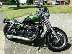 Triumph Speedmaster Bobber Custom. Not Bonneville America or Harley Davidson Speed Master