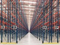 job lot 50 bays , of redirack pallet racking AS NEW( storage , industrial shelving )